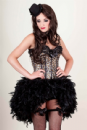 Leopard Print Feather Bustle Dress (Leona)